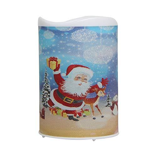Amphia Weihnachten Dekoration - LED-Elektronik Flimmern Flameless WachsKerzen nachtlicht Party Xmas Dekor,