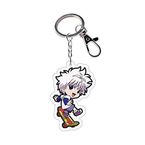 ALTcompluser Anime Hunter x Hunter Karabiner Schlüsselanhänger Doppelseitig Schlüsselbund Schlüsselring Acryl Anhänger, Dekoration für Tasche/ Rucksack / Mäppchen( Killua Zoldyck 2)