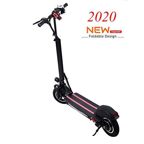 Scooter elettrico Gaeruite, monopattino elettrico pieghevole da 10 pollici a trazione singola per adulto, batteria 48V / 12AH, velocità massima 40 km/h, autonomia 35 km