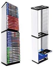 NSSTAR 36 CD Game Disk Tower VR Auricular Organizador de Videojuegos Game Disc Tower Soporte Soporte de Almacenamiento de CD Rack de Discos para Ps5 Y Otros Estuches de Juegos