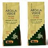 ARGITAL - ARGILLA VERDE ATTIVA VENTILATA 2 CONFEZIONI DA 500 GR, oligoelementi, sali minerali,antiageing, purificanti, tonificanti