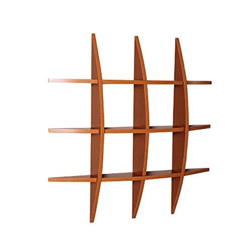ChangDe SOHP Einfache Holzregal Wandregale, Wand-Wand Partition, Wohnzimmer TV Wandhalterung, Regale, Schlafzimmer Wand-Regale, Küche Wandregal (75X75X10cm) Regal (Color : A)
