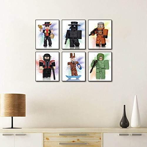 Cartoons Roblox Graffiti Splash Theme Wall Art Prints Set of 6 Pieces 8 X10 Canvas Picture Kids product image