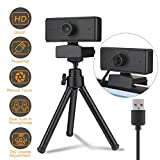 1080P Webcam with Built-in microphone,Full HD Adjustable Web Camera with cover and Tripod