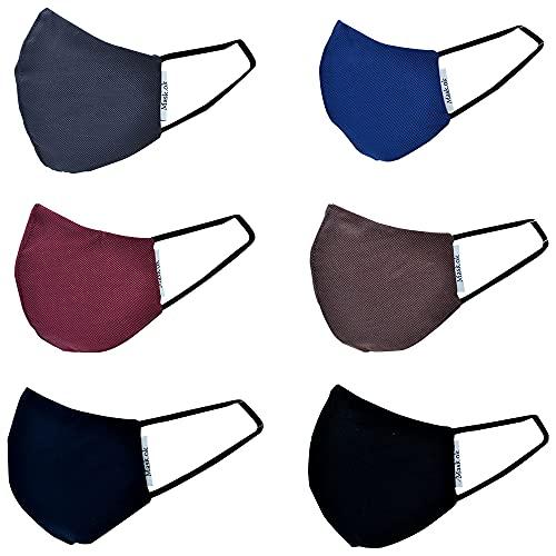 Mask.ok, Nasen- und Mundschutz, waschbar, wiederverwendbar, 6 Farben