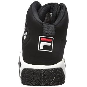 Fila Men's MB Fashion Sneaker, Black/White Red, 11 M US