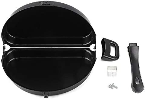 Double Side Pan Haofy Double Side Non stick Ceramic Coating Flip Frying Pan Pancake Maker Household product image