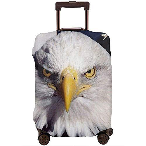 American Flag Eagle Travel Funda para Equipaje Funda Protectora Funda elástica para Maleta M