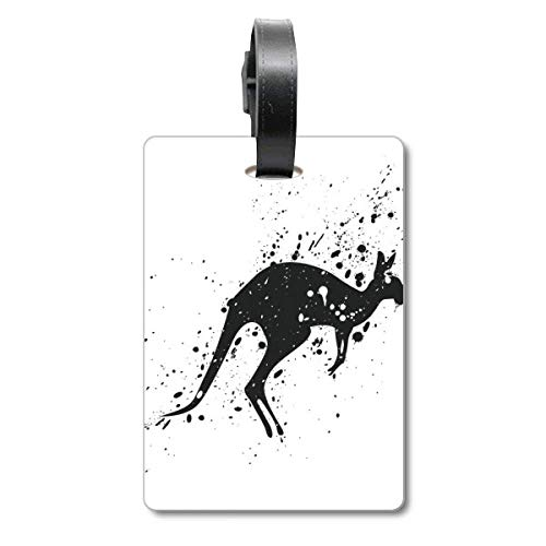 Australia Koala Kangaroo Silhouette Illustration Cruise Suitcase Bag Tag Tourister Identification Label