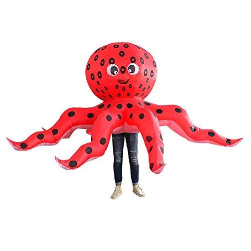 Disfraz de Pulpo Inflable Disfraz de Cosplay de Halloween Disfraz de Animal Divertido para Adultos