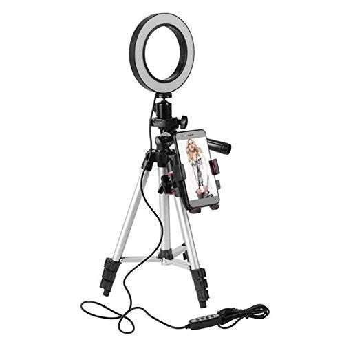 KOBWA Luz de Anillo de 5.7'con Trípode para Selfie/Maquillaje Transmisión...