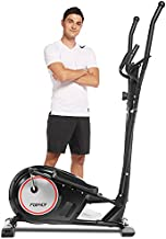 FUNMILY Elliptical Machine for Home, YQ-2308 Elliptical Machine Cross Trainer with APP, Adjustable 8 Level Magnetic Elliptical with LCD Monitor and Pulse Sensors Max Capacity 320lbs