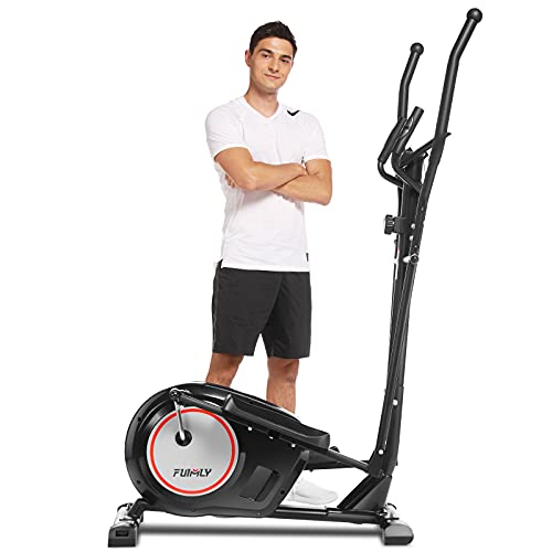 FUNMILY Elliptical Machine for Home,YQ-2308 Elliptical Machine Cross Trainer with APP,Adjustable 8 Level Magnetic Elliptical with LCD Monitor and Pulse Sensors Max Capacity 320lbs