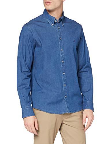 Brooks Brothers Herren Camicia Sportiva Hemd mit Button-Down-Kragen, blau, S