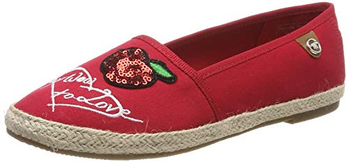 TOM TAILOR Damen 6992014 Espadrilles, Rot (Red 00004), 37 EU