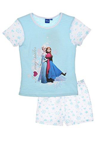 Disney Die Eiskönigin Shorty Schlafanzug Hellblau 116 ( 6 Jahre)