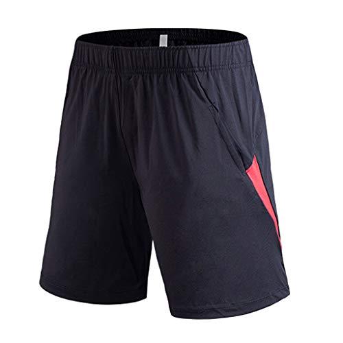 Shorts Hombre fútbol Pantalones Cortos Verano De Moda Cómodo de Playa Shorts de Baloncesto con Cinturón elástica Secado rápido,2021 Deporte Shorts De Gimnasio Entrenamiento Shorts Hombre de Footing