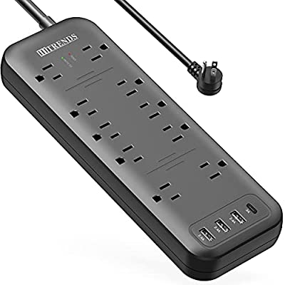 Power Strip, HITRENDS Surge Protector with 10 O...