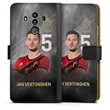 DeinDesign Étui Compatible avec Huawei Mate 10 Pro Étui Folio Étui magnétique Football Belgique...