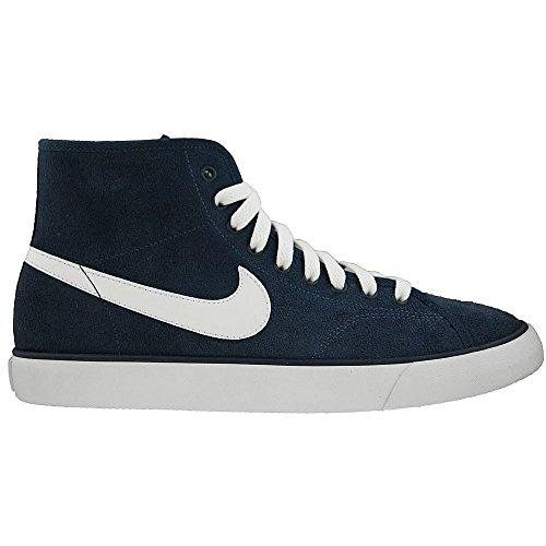 Nike Primo Court MID Leather Blau Weiss Wildleder Herren Sneakers Schuhe Neu