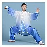 WANGQW Conjunto de Uniformes de Tai Chi de Cuatro Temporadas, Traje de Artes Marciales Tai Chi Ropa Mujeres de 3 Piezas Artes Marciales de 3 Piezas Taijiquan Práctica Ropa Ropa Ropa (Color : Large)
