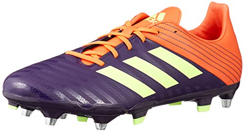 Adidas Malice SG, Botas de Rugby para Hombre, Rojo (Legend Purple/Hi/Res Yellow/True Orange Legend Purple/Hi/Res Yellow/True Orange), 42 EU