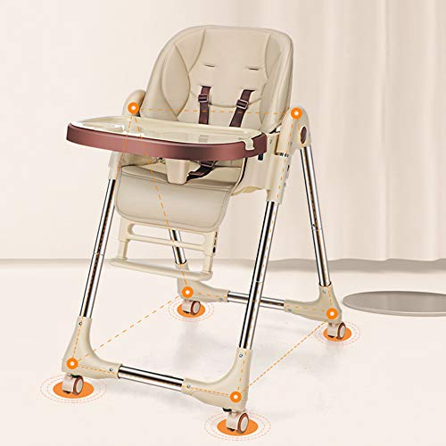 ZCFXGHH opvouwbare hoge stoel voor baby, draagbare baby eettafel voor kinderen, metalen multifunctionele eettafel