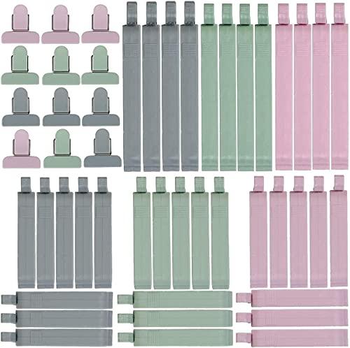NKY Nalakey Dichtungsclip - Lebensmittel Verschluss Clips - Essen Tasche Sealer Clips für Lebensmittel/Gefrierbeutel/Aromaclips/Müslispender in 3 Größen (48PCS)