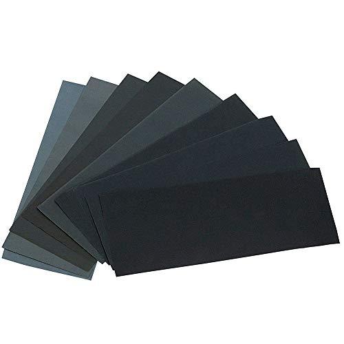 Schleifpapier Trocken Nass, Schleifpapier Set, Sandpapier, Körnung Schleifpapier, Schleifpapier Sortiment, Nassschleifpapier, Wasserschleifpapier, Schleifpapier für Metall Stein Lack (28pcs)