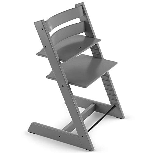 Tripp Trapp by Stokke Adjustable Wooden Storm Grey Baby High Chair (Chair Only)