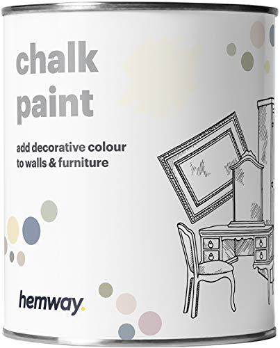 Hemway Kreidefarbe, matt, für Wand und Möbel, 1 l, Shabby Chic, Vintage, Kreidefarbe (mehr als 50 Farben erhältlich)