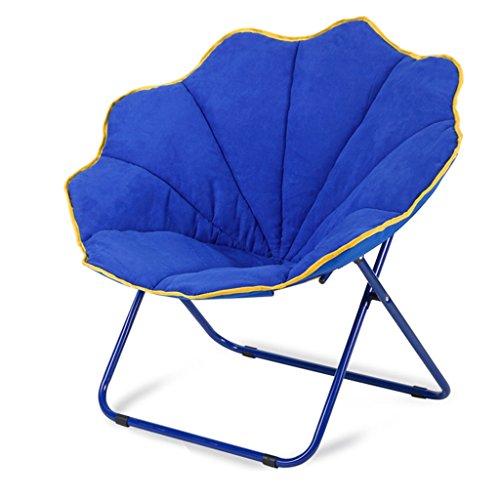 DS-chaise Chaise Pliante - Chaise Pliante Chaise Pliante Chaise Ronde Chaise de Loisirs Canapé Chaise inclinable Chaise Pliante épaississante && (Couleur : C)