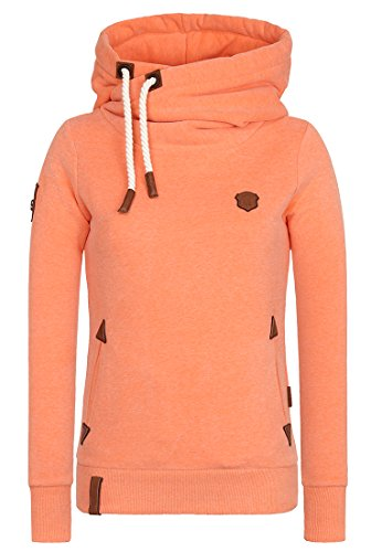 Damen Kapuzenpullover Naketano Darth IX Hoodie, Orange Melange, Gr. S