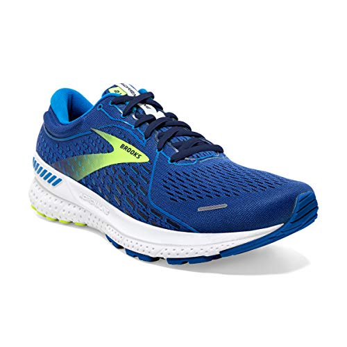 Brooks Adrenaline GTS 21, Scarpe da Corsa Uomo, Blue/Indigo/Nightlife, 45 EU