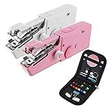 LanGuShi LGJ313 Minifuerza portátil Máquina de Coser sin Cable de Mano Pedido de Costura Ropa de Morada + Kit de Herramientas Multifunción (Color : 2)