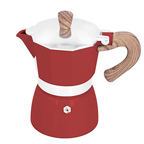 Olla Moka, cafetera de aluminio práctica de 150 ml, cafetera Moka octogonal para electrodomésticos de cocina de oficina en casa(05)