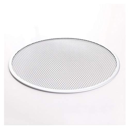 Bandejas pizza Pantalla de pizza de pizza, pantalla de pizza de aleación de aluminio redonda inconsútil, bandeja de pizza de malla antideslizante, herramienta de cocina para hornear para horno Bandeja