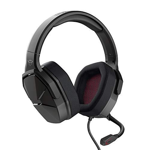 Trust Gaming Cuffie GXT 4371 Ward con Microfono Ripiegabile, per PS4, PS5, PC, Xbox Series X, Xbox One, Nintendo Switch, Altoparlanti da 50mm, Filo, Over Ear, Padiglioni in Tessuto Traspirante, Nero