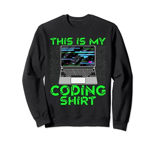 Esta es mi codificación Camisa Coder Pila Completa Desarrollador Web Dev Sudadera