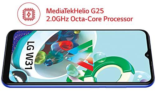 LG W31 (Midnight Blue, HD+ FullVision Display, 4GB/64GB Storage) | 4000 mAh Battery with MediaTekHelio G25, 2.0GHz Octa-Core Processor