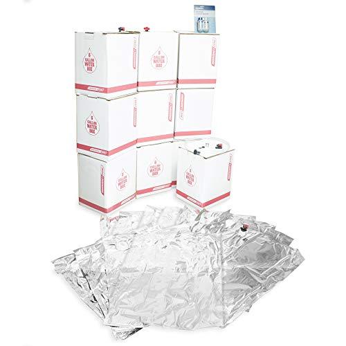 Long Term Water Storage System, BPA Free Water Bags, 5 Year Shelf Life | 50 Gallon Set
