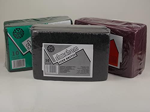 SIMPLY REFINISHING Scuff Pads Like Scotch Brite Abrasive Pads 10 X Red 10 X Grey 10 X Green