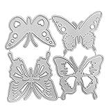 Fagu Plantillas de Troqueles de Corte de Metal de Mariposa, álbum de Fotos en Relieve, Tarjetas de Papel, Manualidades