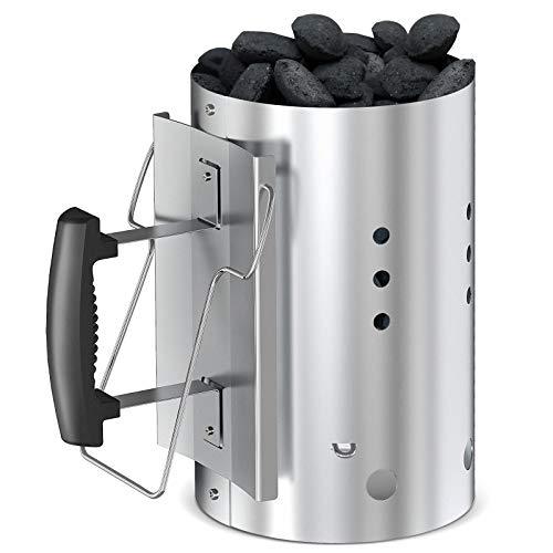 Coisien Encendedor de carbón Chimenea Encendido Barbacoa con asa de Seguridad para Weber 7416 Chimenea Barbacoa 30.5cm x 19cm para Barbacoas y Ahumadores de Chimenea Briquetas