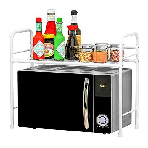 SUNTAOWAN Horno microondas estantes carro de la cocina de almacenamiento en rack rack preparación en la cocina for cocinar arroz almacenamiento for horno de soporte blanco (Color: Blanco, Tamaño: 60X3