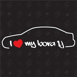 speedwerk motorwear I Love My Bora 1J Limousine   Sticker kompatibel mit VW   Baujahr 1998 2005
