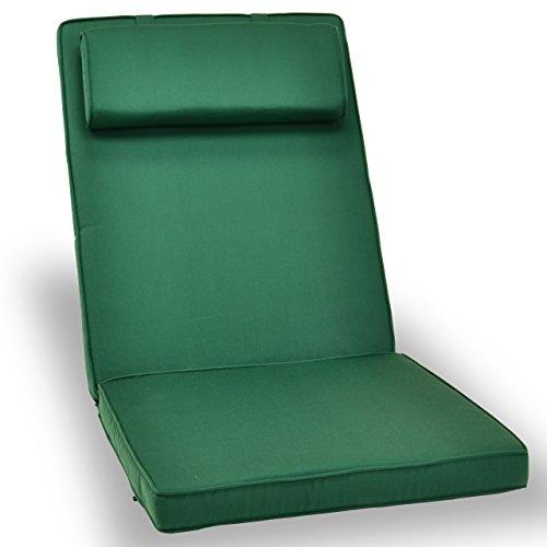 Nexos Divero Sitzauflage Stuhlkissen Sitzpolster für Gartenmöbel wie Hochlehner Gartenstuhl Campingstuhl Klappstuhl – bequem hochwertig robust - grün