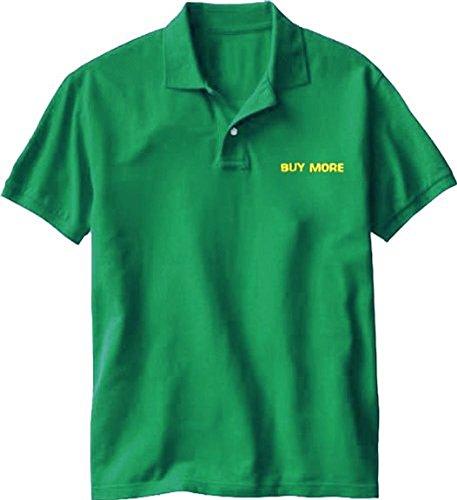 TV Store Chuck Buy More Electronics Store Employee grün Kostüm Tee Polo (Medium)