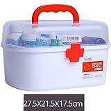 救急箱 応急処置 薬箱 救急ボックス 薬 くすり 収納 収納ボックス 大容量 収納箱 救急 応急手当 薬入れ 小物入れ 多機能 家庭用すっきり収納 小物入れ 雑貨収納 21.5*16.5*15.5cm 27.5*21.5*17.5cm