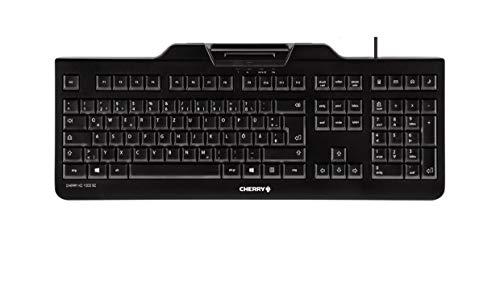 CHERRY KC 1000 SC USB QWERTY US Englisch Schwarz Tastaturen Standard, Verkabelt, USB, Mechanischer Switch, QWERTY, Schwarz, JK-A0100EU-2